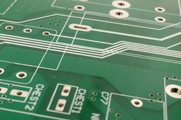 Placa de circuito impresso verde